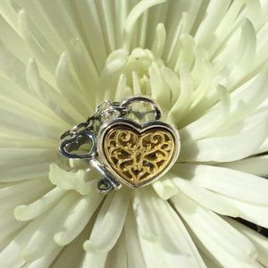 Pandora golden heart dangle charm